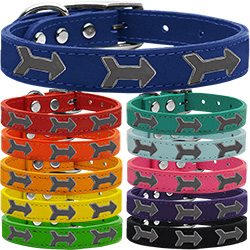 Arrow Widget Genuine Leather Dog Collar