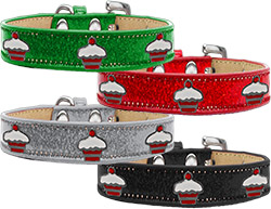 Red Cupcake Widget Ice Cream Dog Collars