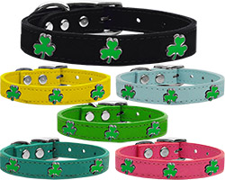 Shamrock Widget Genuine Leather Dog Collar
