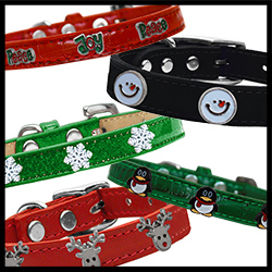 Christmas Widget Dog Collars