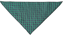 Green Plaid Tie-On Pet Bandana Size Large