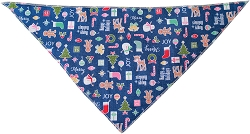 Holiday Mix Tie-On Pet Bandana Size Large