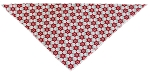 Vintage Snowflake Tie-On Pet Bandana Size Small