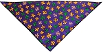 Mardi Gras Fleur De Lis Tie-On Pet Bandana Size Small