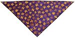 Purple Fleur De Lis Tie-On Pet Bandana Size Small