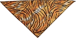 Tiger Print Tie-On Pet Bandana Size Small