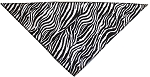 Zebra Print Tie-On Pet Bandana Size Small