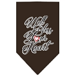 Well Bless Your Heart Screen Print Bandana Brown Small