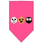The Spook Trio Screen Print Bandana Bright Pink Large