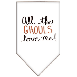 All the Ghouls Screen Print Bandana White Small