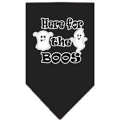 Here for the Boos Screen Print Bandana Black Small