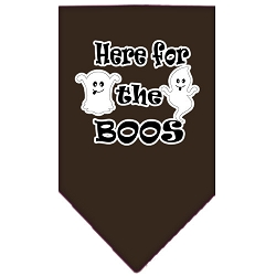 Here for the Boos Screen Print Bandana Brown Small