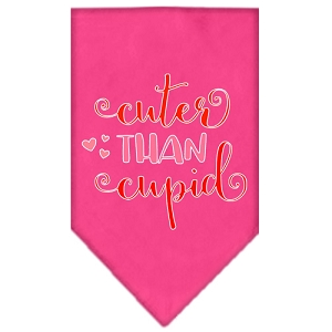 Cuter Than Cupid Screen Print Bandana Bright Pink Large