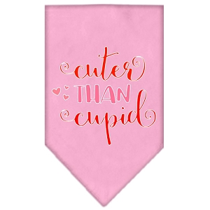Cuter Than Cupid Screen Print Bandana Light Pink Large