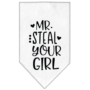 Mr. Steal Your Girl Screen Print Bandana White Large
