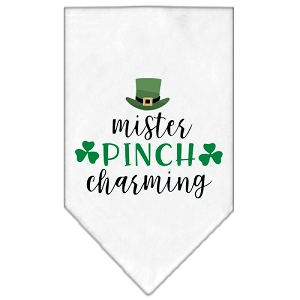 Mister Pinch Charming Screen Print Bandana White Large