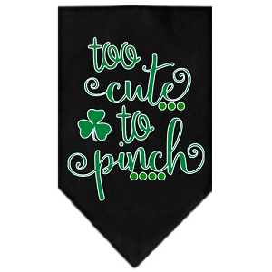 Too Cute to Pinch Screen Print Bandana Black Small