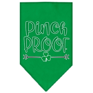 Pinch Proof Screen Print Bandana Emerald Green Large