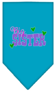 Big Sister Screen Print Bandana Turquoise Large