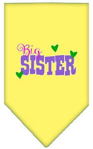 Big Sister Screen Print Bandana Yellow Small