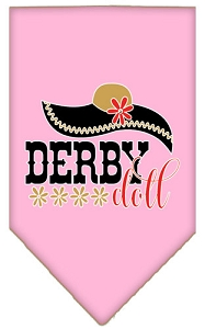 Derby Doll Screen Print Bandana Light Pink Large