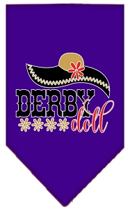 Derby Doll Screen Print Bandana Purple Large