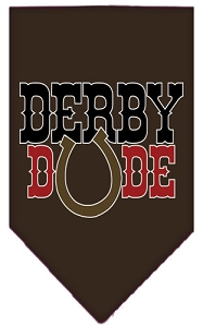 Derby Dude Screen Print Bandana Cocoa Large