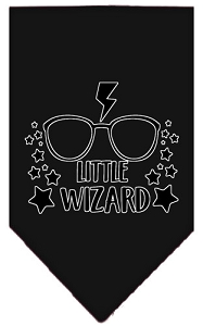 Little Wizard Screen Print Bandana Black Small