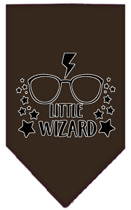 Little Wizard Screen Print Bandana Cocoa Small