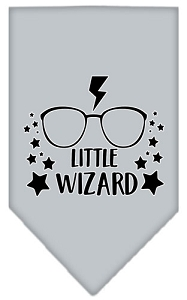 Little Wizard Screen Print Bandana Grey Small