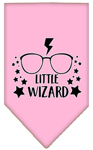 Little Wizard Screen Print Bandana Light Pink Small