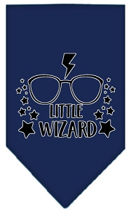Little Wizard Screen Print Bandana Navy Blue Small