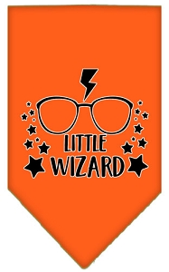 Little Wizard Screen Print Bandana Orange Large