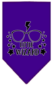 Little Wizard Screen Print Bandana Purple Large