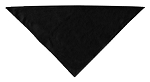 Plain Bandana Black Small