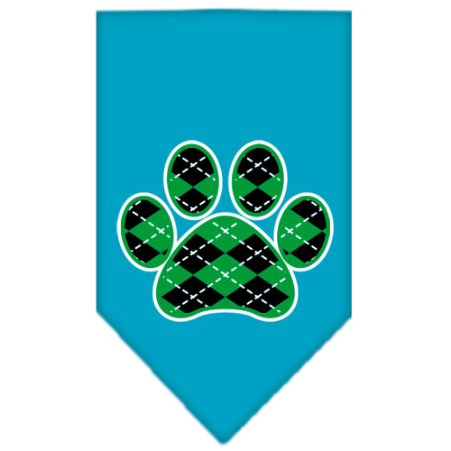 Turquoise Dog Paw Print Blankets