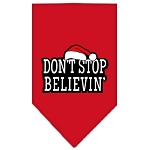 Dont Stop Believin Screen Print Bandana Red Small