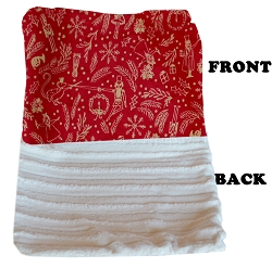 Luxurious Plush Carrier Blanket Red Holiday Whimsy