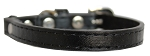 Premium Plain Cat safety collar Black Size 10