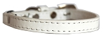 Premium Plain Cat safety collar White Size 10