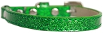Ice Cream Plain Cat safety collar Emerald Green Size 10