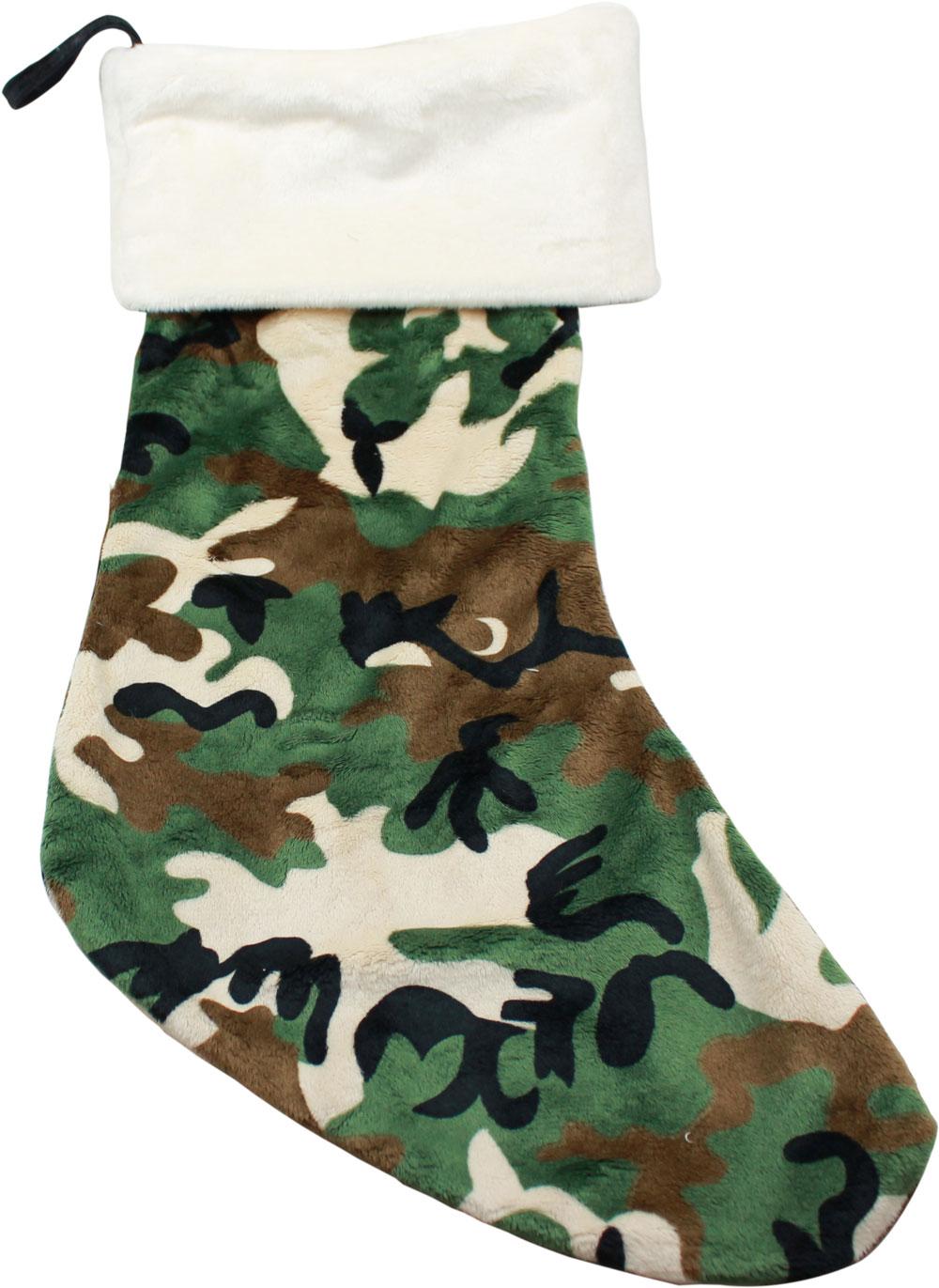 green camo christmas stocking - Camo Christmas Stocking