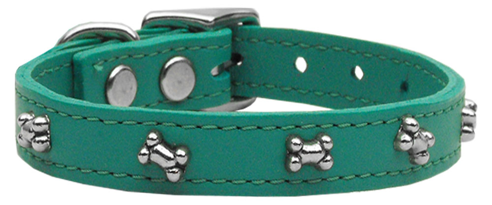 Bone Leather Dog Collar Jade 14