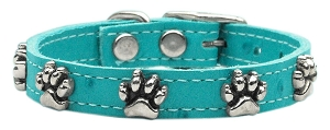 Faux Ostrich Paw Leather Turquoise 10