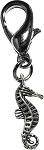 Sea Horse Lobster Claw Charm