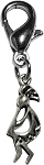 Kokopelli Lobster Claw Charm