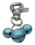 Lobster Claw Bell Charm Aqua