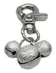 Lobster Claw Bell Charm Silver
