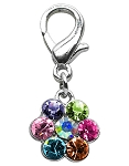 Lobster Claw Flower Charm Multi Color