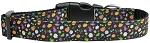 Halloween Confetti Nylon Dog Collar Medium Narrow